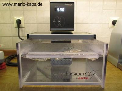 Sous Vide-Wasserbad mit Sous Vide-Gerät, 58 °C