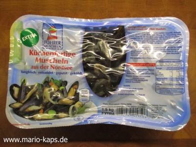Föhrer Miesmuscheln verpackt in der Verkaufsverpackung