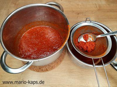 Sweet Chili Sauce - Passieren