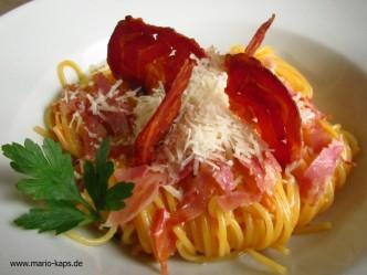 Die echten Spaghetti Carbonara ohne Sahne!!