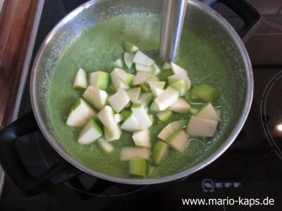 Green Gazpacho - Apfel pürieren