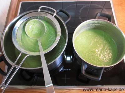 Green Gazpacho - Anordnung zum Passieren