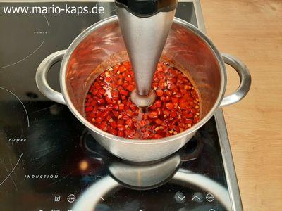 Sweet Chili Sauce - Pürieren