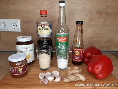 Sweet Chili Sauce - Zutaten