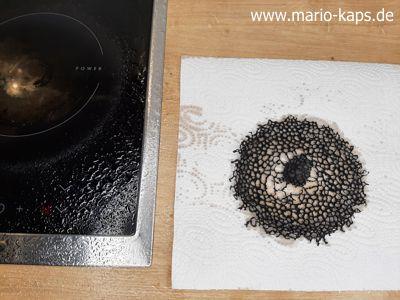 Schweinefilet Sous Vide - Korallenhippen auf Küchenpapier entfetten